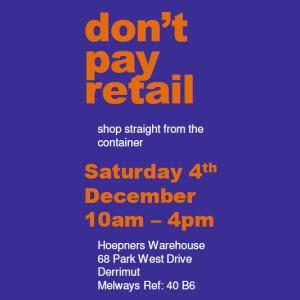 Big Sale at Drop Zone Dec 4th