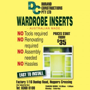 Durand Constructions  - Australian Made -  Furniture SALE