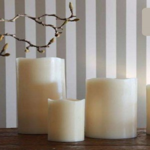 LED real wax flameless Candles