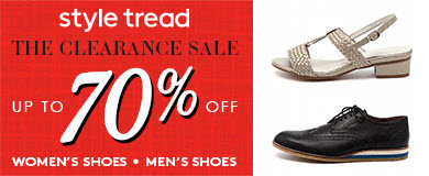 style tread shoe sales